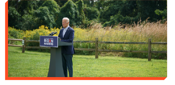 Joe Biden delivering a speech