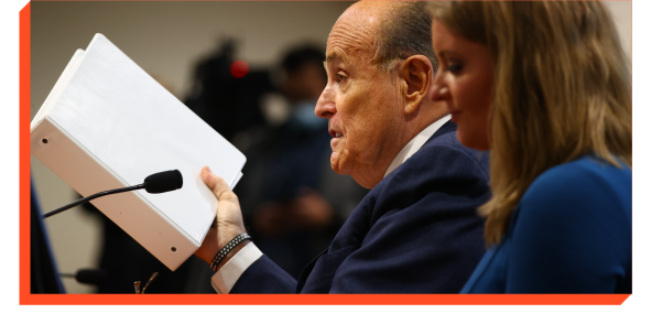 Rudy Giuliani speaking in court