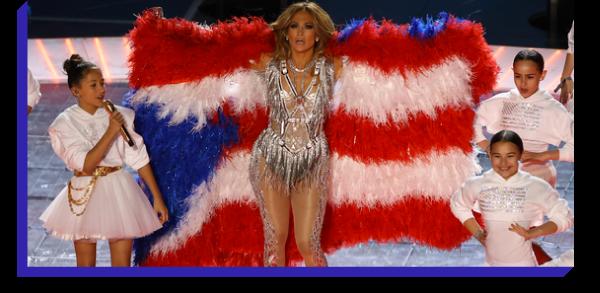 Jennifer Lopez at the Super Bowl Halftime Show