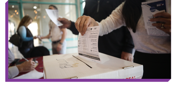 Person submitting a paper ballot