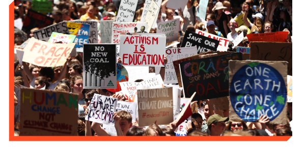 Young people demanding action on climate change