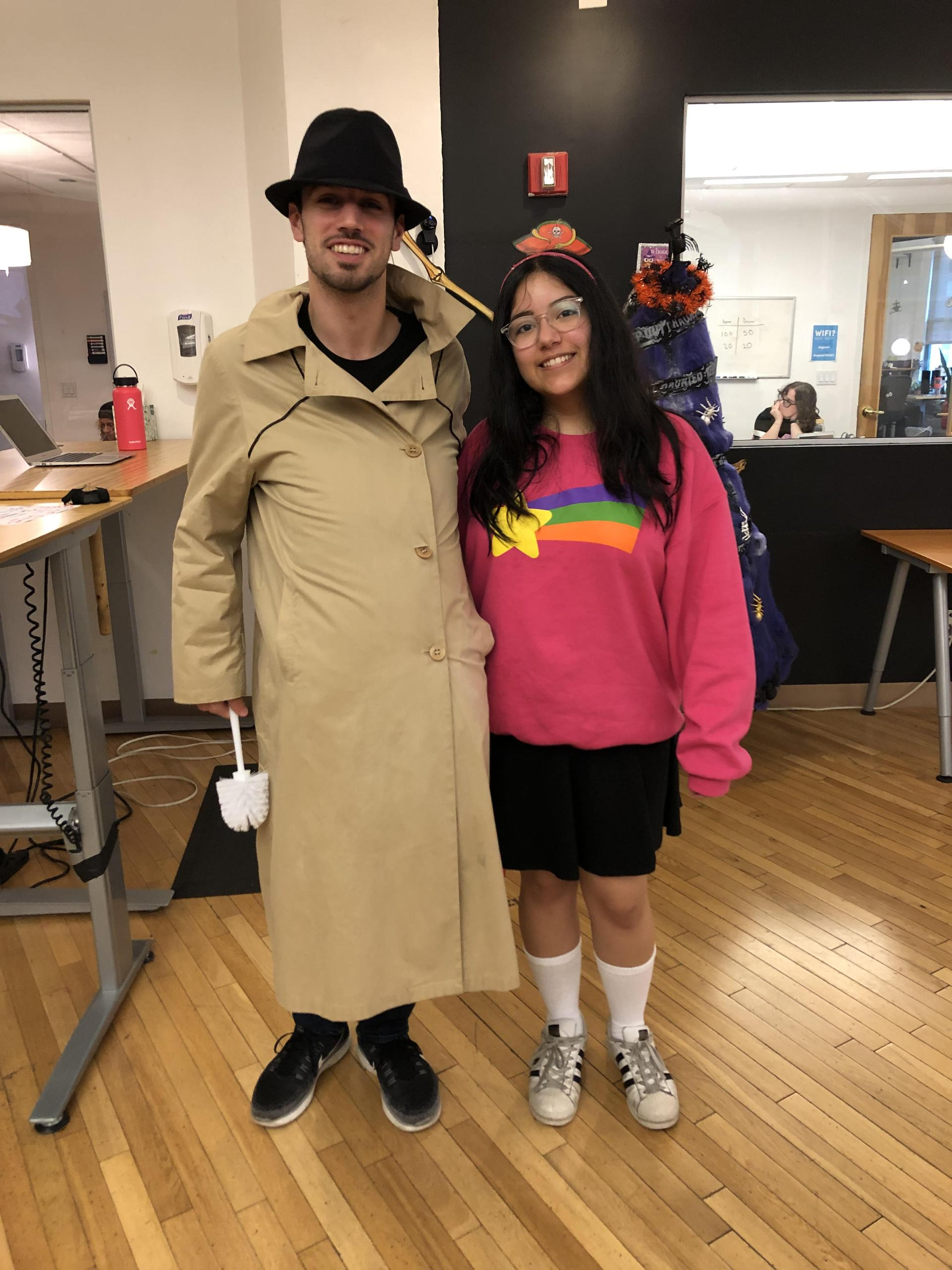 Anthony and Jackie in their Halloween costumes